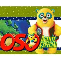 Kit Imprimible Oso Agente Especial Diseñá Tarjetas Invit 2x1