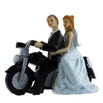Novios Figuras Para Pastel De Boda Cake Toppers Moto H4068