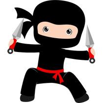 Kit Imprimible Ninjas Candy Bar Diseña Tarjeta Invitacion #1