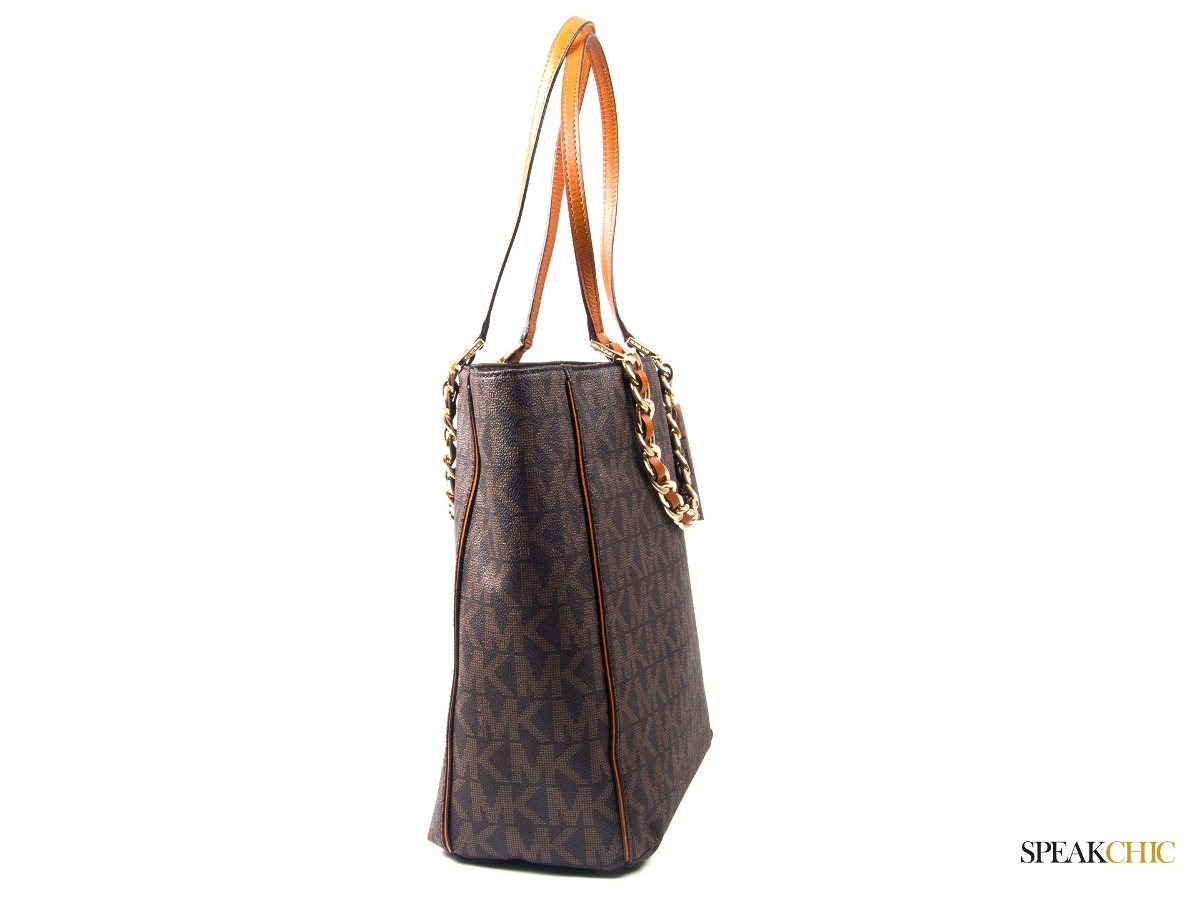 Bolsa Dourada Michael Kors Replica : Bolsa michael kors tote pvc brown original car interior