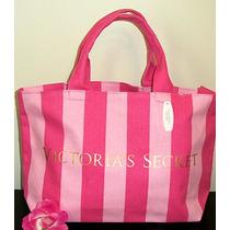 Victorias Secret Pink Stripe Beach Tote