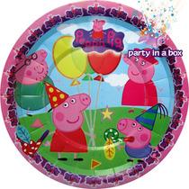 Peppa Pig Plato, Vaso, Coronas, Botones. Todo Para Tu Fiesta