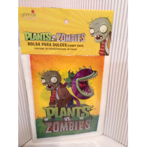 Plantas Vs Zombies 25 Bolsas De Plástico Para Dulces