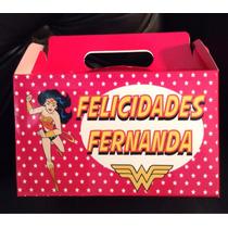 Mujer Maravilla 10 Cajas Personalizadas Liga De La Justicia