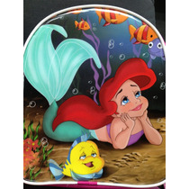 Lote 10 Mochilas Dulceros Ariel La Sirenita