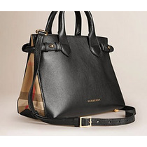 Bolsa Burberry Original 100% Small Banner In Leather