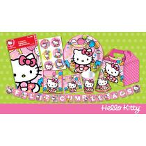 Set De Fiesta Kitty Para 12 Niñas