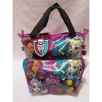 2 Pz Bolsa Y Cosmetiquera Monster High Original Morada