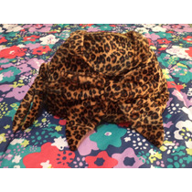 Bolsa Animal Print D Peluche Bath & Body Works Cafe C/camel