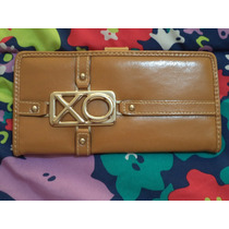 Cartera Billetera Xoxo Monogram 100% Original Cafe C/camel