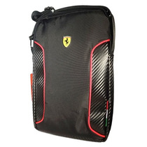 Mariconera Morral Bolsa Ipad Tablet Ferrari Negro 10 Pulg