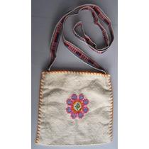 Morral Grande Textil Con Figura Tejida