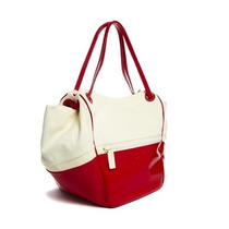 Bolsa Lacoste Original White Golden Poppy Super Amplia Roja