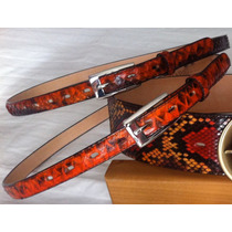 Cinturón De Dama En Piel De Piton Original $699pesos