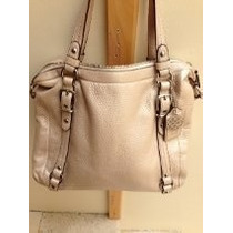 Coach Original, Piel Color Perla, Impecable, Tamaño Gde