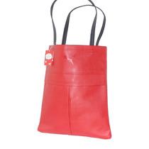Bolsa Puma Shopper Roja Casual Tipo Piel Envio Gratis Mn4