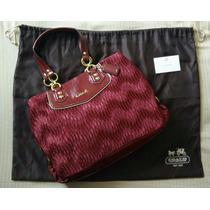 Coach Ashley Gathered Satin Handbag No. H1282-f20050