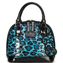 Hello Kitty Bolsa Mini Embossed Animal Print Teal Loungefly