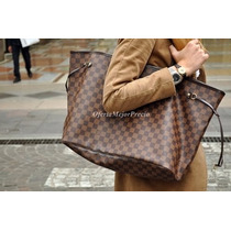 Bolsa Louis Vuitton Neverfull Gm C/cartera Ticket Factura Lv