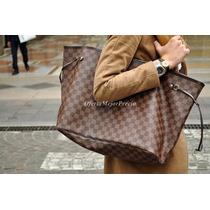Bolsa Louis Vuitton Neverfull Gm C/cartera Ticket Factura Lv