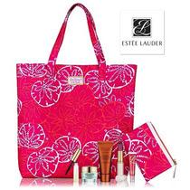 Set 2 Bolsas Estee Lauder Tote Rosa Cosmetiquera Lilly Pulit