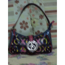Linda Bolsa Azul Con Colores Xoxo Monogram 100% Original