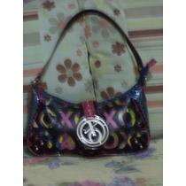 Linda Bolsa Azul Con Colores Xoxo Monogram 100% Original