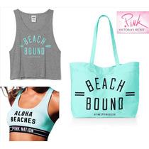 Set 3 Pz L Bolsa Tote, Top,sport Bra Victorias Secret Grande