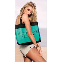 Victorias Secret Bolsa Mochila Maleta Azul Y Verde Amyglo
