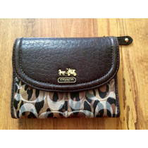 Preciosa Cartera Coach Animal Print Piel Fina 100% Original!