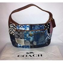Coach Ergo Indigo Azul Denim Patchwork Hobo Bolso 10808