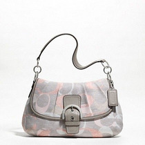 Coach Signature Soho Optic Linen Flap F19238