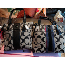 Bolsa Coach 100% Original Color Blanco Con Negro Fn4