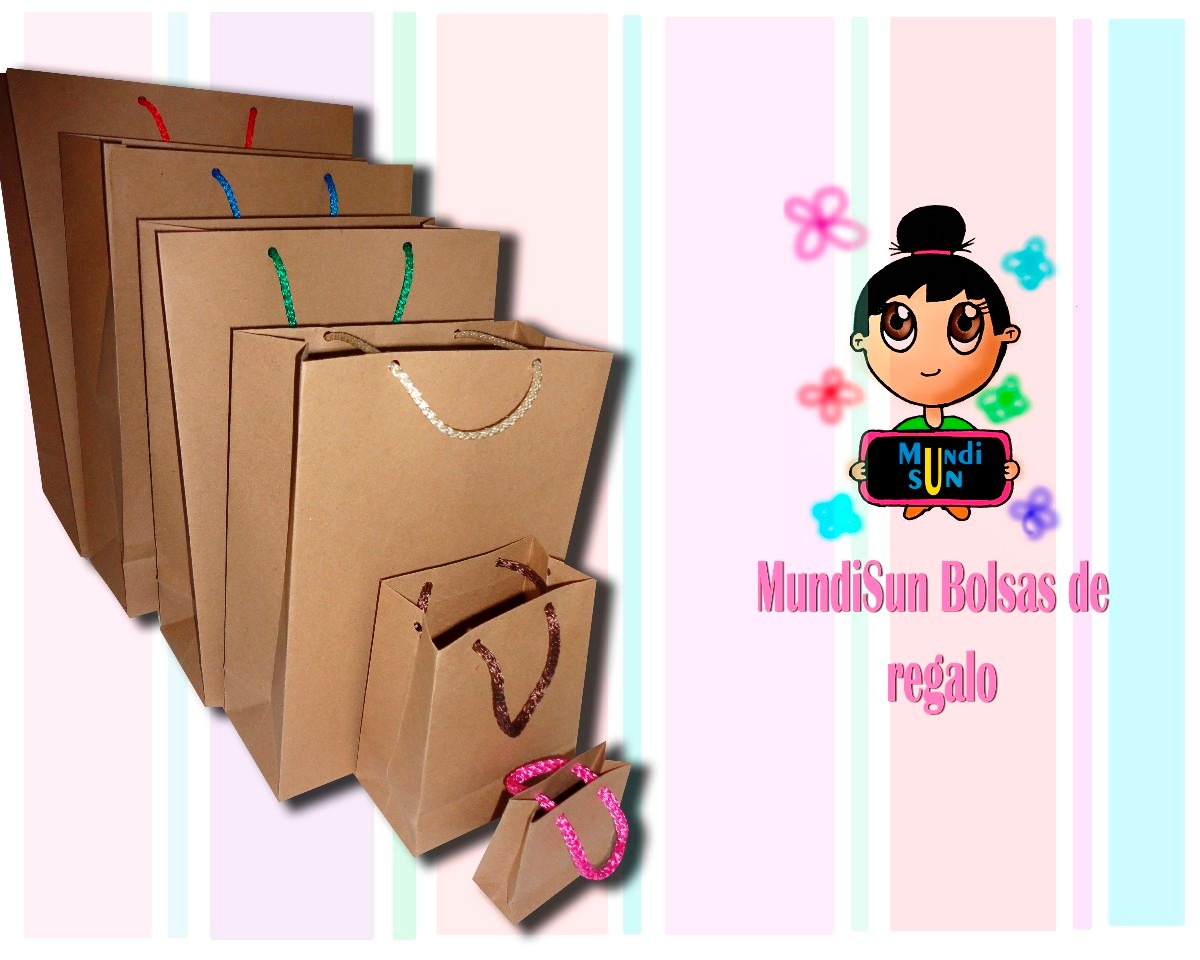Bolsas de regalo papel kraft mayoreo en - Bolsas de regalo personalizadas ...