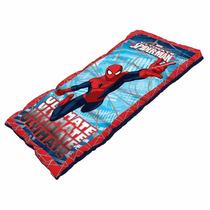Sleeping Bag Infantil Spiderman Acampar Bolsa De Dormir