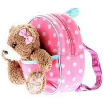 Envio Backpack Claires Nina Bolsa Oso Peluche Rosa Mochila