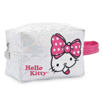 Hermosa Bolsa Cosmetiquera Hello Kitty Original Blanca/rosa