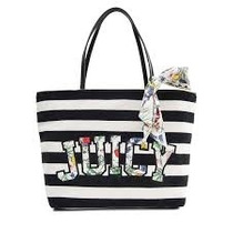 Hermosa Bolsa Juicy Couture Negro Con Blanco 100% Original