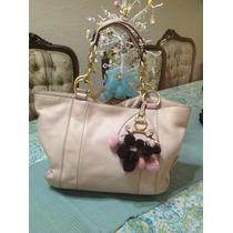 Bolsa Juicy Couture Piel Rosa Original