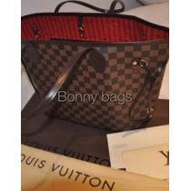 Louis Vuitton Gm Neverfull Ebene,factura Y Ticket!!!