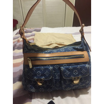 Hermosa Bolsa Louis Vuitton Denim Baggy Pm Lv