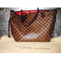 Bolsa Lv Neverfull Monogram Ebene 3 Versiones Mm