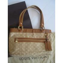Louis Vuitton Bolsa Lucille Pm Monograma Mini Lin Cafe Auth