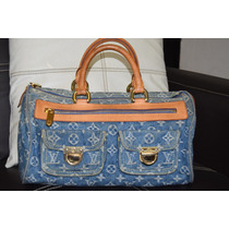 Increible Bolsa Louis Vuitton Neo Speedy Monogram Denim Wow