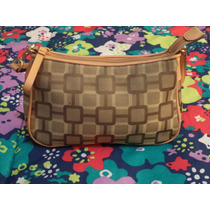 Linda Bolsa Nine West Monogram 100% Original Cafe C/camel