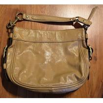 Bolsa Coach Patent Leather Beige 100% Original!!