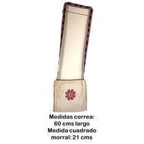 Morral Chico Textil Con Figura Tejida