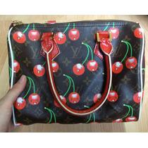 Preciosa Bolsa Cerises Cherry Monogram Speedy 30 Grande!!