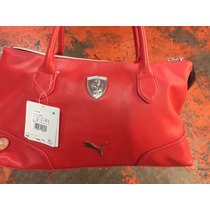 Bolsa Puma Ferrari De Mano-dama 100% Piel Original Roja