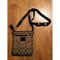 Bolsa Coach Crossbody Signature Piel Negra 100% Original!!